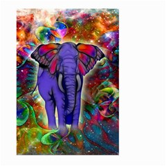 Abstract Elephant With Butterfly Ears Colorful Galaxy Large Garden Flag (two Sides) by EDDArt