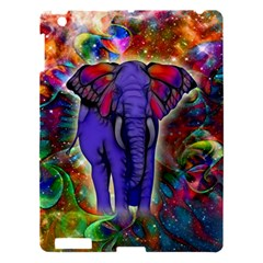 Abstract Elephant With Butterfly Ears Colorful Galaxy Apple Ipad 3/4 Hardshell Case by EDDArt