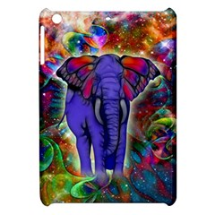 Abstract Elephant With Butterfly Ears Colorful Galaxy Apple Ipad Mini Hardshell Case by EDDArt