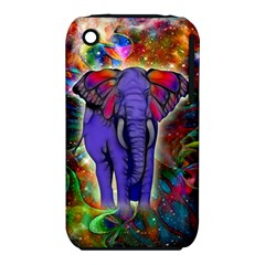 Abstract Elephant With Butterfly Ears Colorful Galaxy Iphone 3s/3gs by EDDArt