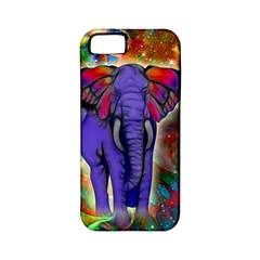 Abstract Elephant With Butterfly Ears Colorful Galaxy Apple Iphone 5 Classic Hardshell Case (pc+silicone) by EDDArt