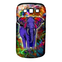 Abstract Elephant With Butterfly Ears Colorful Galaxy Samsung Galaxy S Iii Classic Hardshell Case (pc+silicone) by EDDArt