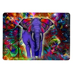 Abstract Elephant With Butterfly Ears Colorful Galaxy Samsung Galaxy Tab 10 1  P7500 Flip Case by EDDArt