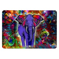 Abstract Elephant With Butterfly Ears Colorful Galaxy Samsung Galaxy Tab 8 9  P7300 Flip Case by EDDArt