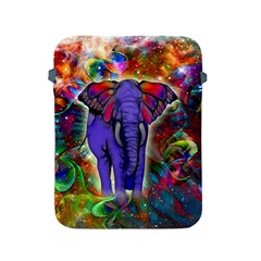 Abstract Elephant With Butterfly Ears Colorful Galaxy Apple Ipad 2/3/4 Protective Soft Cases by EDDArt