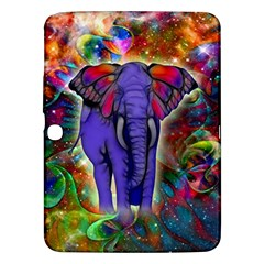 Abstract Elephant With Butterfly Ears Colorful Galaxy Samsung Galaxy Tab 3 (10 1 ) P5200 Hardshell Case  by EDDArt
