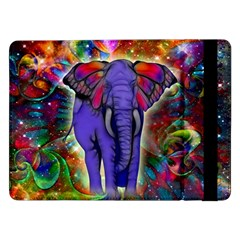 Abstract Elephant With Butterfly Ears Colorful Galaxy Samsung Galaxy Tab Pro 12 2  Flip Case