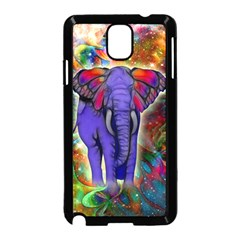 Abstract Elephant With Butterfly Ears Colorful Galaxy Samsung Galaxy Note 3 Neo Hardshell Case (black) by EDDArt