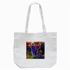 Abstract Elephant With Butterfly Ears Colorful Galaxy Tote Bag (white) by EDDArt
