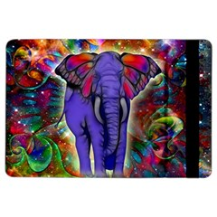 Abstract Elephant With Butterfly Ears Colorful Galaxy Ipad Air 2 Flip by EDDArt