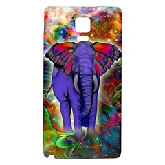 Abstract Elephant With Butterfly Ears Colorful Galaxy Galaxy Note 4 Back Case by EDDArt