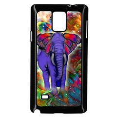 Abstract Elephant With Butterfly Ears Colorful Galaxy Samsung Galaxy Note 4 Case (black) by EDDArt