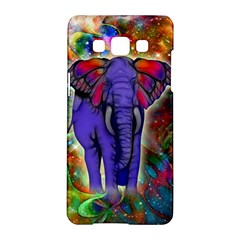 Abstract Elephant With Butterfly Ears Colorful Galaxy Samsung Galaxy A5 Hardshell Case  by EDDArt