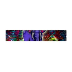 Abstract Elephant With Butterfly Ears Colorful Galaxy Flano Scarf (mini) by EDDArt