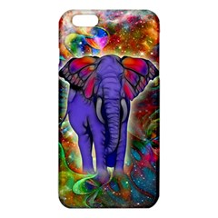 Abstract Elephant With Butterfly Ears Colorful Galaxy Iphone 6 Plus/6s Plus Tpu Case by EDDArt