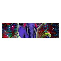 Abstract Elephant With Butterfly Ears Colorful Galaxy Satin Scarf (oblong) by EDDArt
