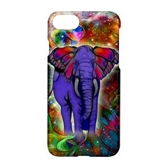 Abstract Elephant With Butterfly Ears Colorful Galaxy Apple Iphone 7 Hardshell Case by EDDArt