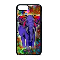 Abstract Elephant With Butterfly Ears Colorful Galaxy Apple Iphone 7 Plus Seamless Case (black) by EDDArt