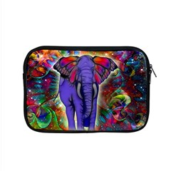Abstract Elephant With Butterfly Ears Colorful Galaxy Apple Macbook Pro 15  Zipper Case by EDDArt