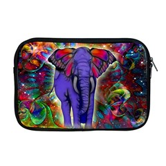 Abstract Elephant With Butterfly Ears Colorful Galaxy Apple Macbook Pro 17  Zipper Case by EDDArt