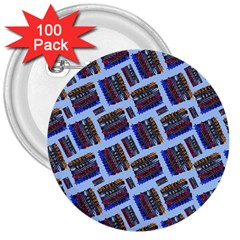 Abstract Pattern Seamless Artwork 3  Buttons (100 Pack)  by Amaryn4rt