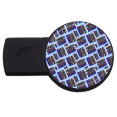Abstract Pattern Seamless Artwork Usb Flash Drive Round (2 Gb) by Amaryn4rt