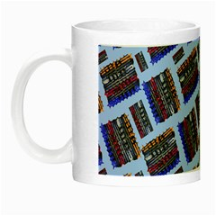 Abstract Pattern Seamless Artwork Night Luminous Mugs by Amaryn4rt