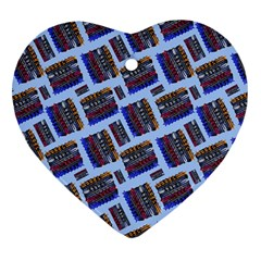 Abstract Pattern Seamless Artwork Heart Ornament (two Sides) by Amaryn4rt