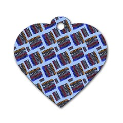 Abstract Pattern Seamless Artwork Dog Tag Heart (one Side) by Amaryn4rt