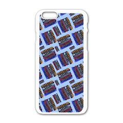 Abstract Pattern Seamless Artwork Apple Iphone 6/6s White Enamel Case by Amaryn4rt