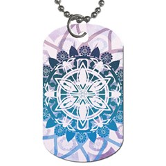 Mandalas Symmetry Meditation Round Dog Tag (one Side) by Amaryn4rt