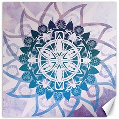 Mandalas Symmetry Meditation Round Canvas 12  X 12   by Amaryn4rt