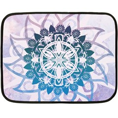 Mandalas Symmetry Meditation Round Double Sided Fleece Blanket (mini)  by Amaryn4rt