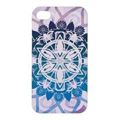 Mandalas Symmetry Meditation Round Apple Iphone 4/4s Hardshell Case by Amaryn4rt