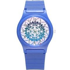Mandalas Symmetry Meditation Round Round Plastic Sport Watch (s) by Amaryn4rt