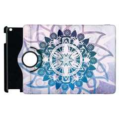 Mandalas Symmetry Meditation Round Apple Ipad 2 Flip 360 Case by Amaryn4rt