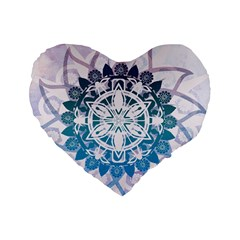 Mandalas Symmetry Meditation Round Standard 16  Premium Heart Shape Cushions by Amaryn4rt