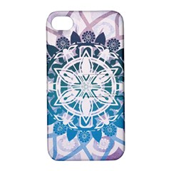 Mandalas Symmetry Meditation Round Apple Iphone 4/4s Hardshell Case With Stand by Amaryn4rt