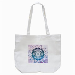 Mandalas Symmetry Meditation Round Tote Bag (white) by Amaryn4rt