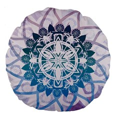 Mandalas Symmetry Meditation Round Large 18  Premium Flano Round Cushions by Amaryn4rt