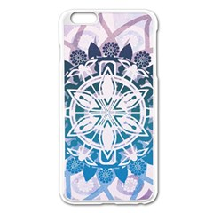 Mandalas Symmetry Meditation Round Apple Iphone 6 Plus/6s Plus Enamel White Case by Amaryn4rt