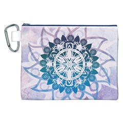 Mandalas Symmetry Meditation Round Canvas Cosmetic Bag (xxl) by Amaryn4rt