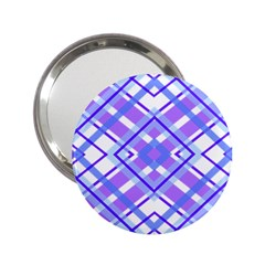 Geometric Plaid Pale Purple Blue 2 25  Handbag Mirrors by Amaryn4rt