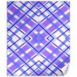 Geometric Plaid Pale Purple Blue Canvas 8  x 10  10.02 x8 Canvas - 1