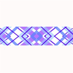 Geometric Plaid Pale Purple Blue Large Bar Mats by Amaryn4rt