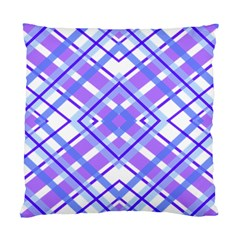 Geometric Plaid Pale Purple Blue Standard Cushion Case (one Side)