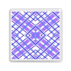 Geometric Plaid Pale Purple Blue Memory Card Reader (square)  by Amaryn4rt