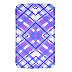 Geometric Plaid Pale Purple Blue Samsung Galaxy Tab 3 (7 ) P3200 Hardshell Case  by Amaryn4rt