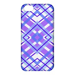 Geometric Plaid Pale Purple Blue Apple Iphone 5c Hardshell Case by Amaryn4rt