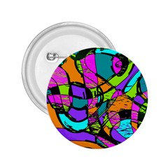 Abstract Art Squiggly Loops Multicolored 2 25  Buttons by EDDArt